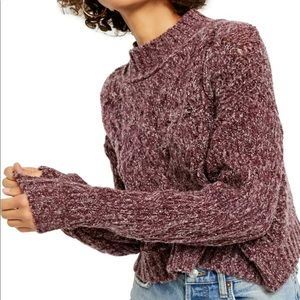 Free people M Merry go round cropped sweater NWT